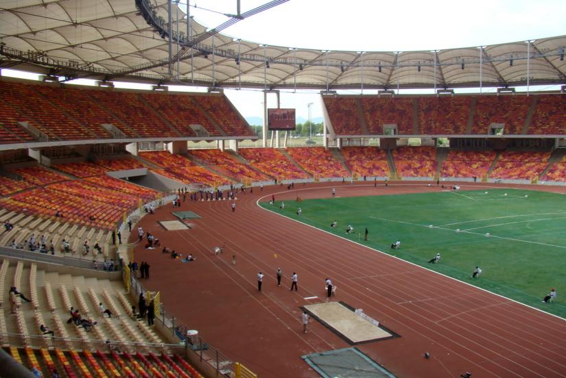 Abuja National Stadium venue of the all-comers-2017 / Photo credit: Yommie/AthleticsAfrica.Com