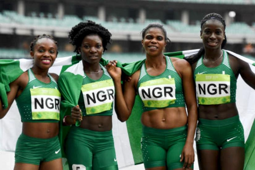 Team Nigeria 4x400m team at the 2017 Islamic Solidarity Games in Baku / Photo credit: Getty