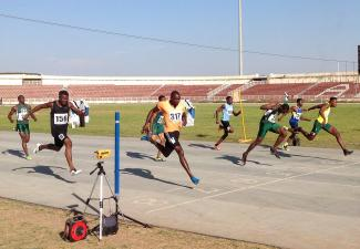 Usheoritse Itsekiri winning the 100m in Kaduna / Photo credit: Gong News