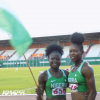 Rosemary Chukwuma and Grace Nwokocha of Team Nigeria